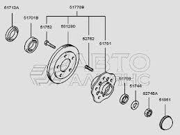 <b>Ступица переднего колеса</b> H100 Porter (Чертеж № 94: список ...