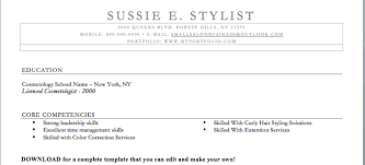 cosmetology resumes examples  hair stylist resume  cosmetology    hair stylist resume
