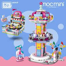 <b>LOZ Mini Blocks</b> Cartoon Bumper Car Jumping Machine Model ...