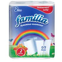 Полотенца бумажные <b>Familia Радуга</b> белые двухслойные ...