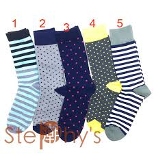 Men dot and striped pattern <b>happy</b> socks <b>style</b> business novelty <b>crew</b> ...