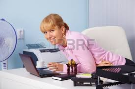 a beautiful smiling young girl in a bright office stock photo 8978607 beautiful bright office