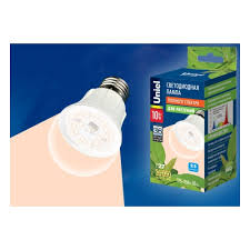 <b>Светодиодная лампа</b> для растений <b>Uniel LED</b>-<b>A60</b>-10W/SPFR ...