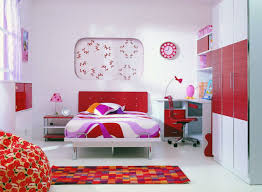 f wonderful decoration of teenage girl bedroom ideas with white and red purple color single low profile bed included three door panel wardrobe plus modern bedroom furniture teenage girls