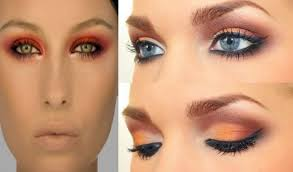 orange eyeshadow for blue eyes