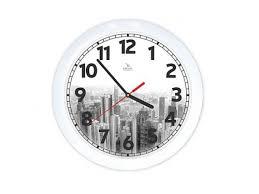 <b>часы</b> интерьерные <b>Вега</b> Город черно-белый, <b>пластик</b> (<b>настенные</b>)