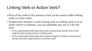 parts of speech verbs english action verbs action verbs tell what linking verb or action verb