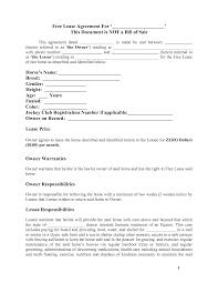 horse template printable basic lease agreement  horse template printable basic lease agreement