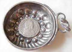Image result for pictures of french silver tastevin with serpents