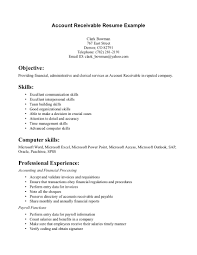 best accounts receivable clerk resume example writing resume account receivable resume example objective skills