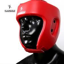<b>Red</b> Black <b>MMA</b> Helmet adult male Female fighting <b>muay thai</b> kick ...