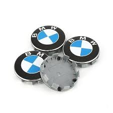 BMW Wheel Caps 68mm <b>4x</b> - <b>Blue</b> & <b>White</b> - Fits E30 318i 3 Series ...