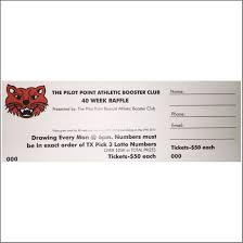 pilot point athletic booster club week raffle ticket flipdog raffle ticket