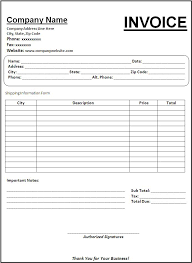 Image result for photo of a blank billing statement