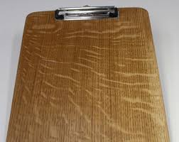 clip board or clipboard from quarter sawn white oak lumber with counter sunken screw posts a5 clipboard clip boards