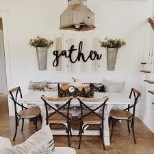 chic large wall decorations living room: i just purchased the quotgatherquot sign and already have shutters i can use ive been trying to decide since i moved this summer what to put on the wall behind