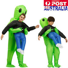 AU <b>Scary</b> Halloween Green <b>Alien Inflatable Costume</b> Blow Up Suits ...