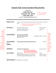 do high school resume job resume for teens aaa aero inc us example of resume for student resume template high school