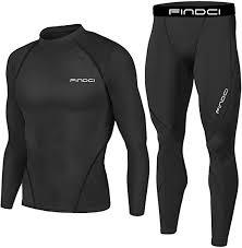 <b>Findci Men Compression</b> Tops Tight Trousers <b>Long</b> Sleeve Shirts ...