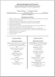 apartment management resume template great templates templates it