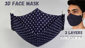 How To Make <b>3D Face Mask</b> || DIY Face Mask || How To Sew Face ...