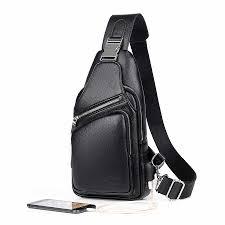 JackKevin <b>Men</b> 's <b>chest bag leisure</b> Messenger <b>bag</b> multi functional ...
