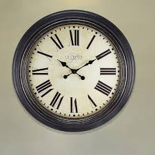 style cabinets unique large wall clock  la crosse technology  antique dial analog wall clock