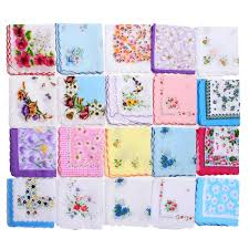 <b>20Pcs</b>/<b>Set</b> Vintage <b>Ladies Women</b> Pocket Floral Flowers ...
