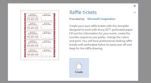 How to Get a Free Raffle Ticket Template for Microsoft Word word raffle ticket template 2