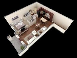 "One "" "" Bedroom Apartment House Plans   Architecture  amp  Design    bedroom   bathroom apartment"