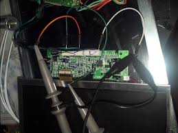 electronics burnt traces page  probe setup