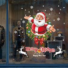 Christmas Xmas Wall Sticker,LEvifun Cute Santa <b>Removable Vinyl</b> ...