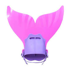 Children Outdoor Swimming Flippers <b>Mermaid</b> Tail Diving Monofin ...