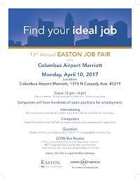 13th annual easton job fair ohiomeansjob columbus franklin 13th annual easton job fair
