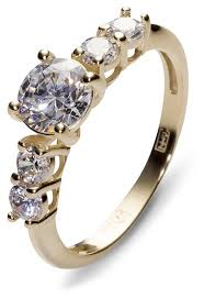 Эстет <b>Кольцо с 5 фианитами</b> из жёлтого золота 01К134878 ...