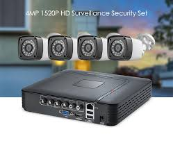 <b>Fuers</b> 4pcs 4MP <b>4CH</b> AHD <b>DVR CCTV</b> Camera Security System Kit ...