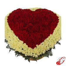 Розы - <b>Композиция 1001</b> роза Премиум Сердце