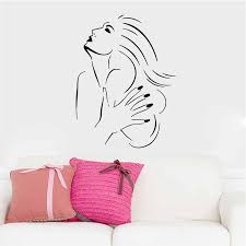 sexy girls manicure nails beauty salon vinyl wall art stickers for window living room home decoration beauty room furniture