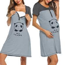 2019 summer <b>Breastfeeding</b> dress short sleeve pregnant women ...