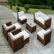 patio couch set  patio sofa wicker sectional furniture couch set mixed brown outdoor outdoor sofa sets