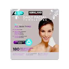 Kirkland Signature Micellar <b>Daily Facial Cleansing</b> Towelettes - 180 ...