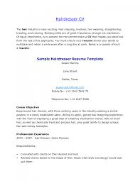 hair dresser stylist cv sample hairdresser example resume hair gallery of hair stylist resume templates