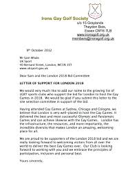 irons gay golf society letter of support gay games london bid
