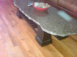 metal dining table base legs bennysbrackets: how to make a  dollar table granite top scrap from a local counter