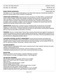 sample resumes federal resume sample