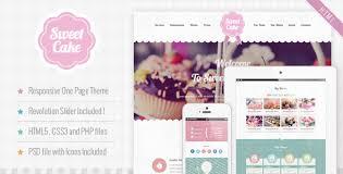 <b>Sweet Cake</b> - Responsive HTML5 One Page Theme by nicdark ...