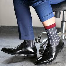 Super Quality TNT Mens <b>Fashion Breathable Cotton</b> Socks Formal ...