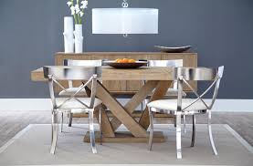 room simple dining sets: dining room simple wooden dining set table combined with metal chairs ideas
