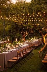 lights backyard wedding lighting