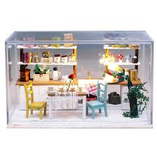 dream kitchen wooden doll house miniature diy asse aliexpresscom buy 112 diy miniature doll house